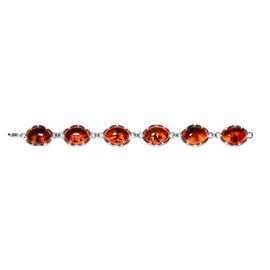 Amber Beaded Bracelet in Sterling Silver 10.01 Grams Size 8 Inch