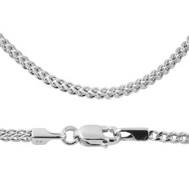 9K White Gold Franco Chain (Size 18), Gold wt 3.90 Gms