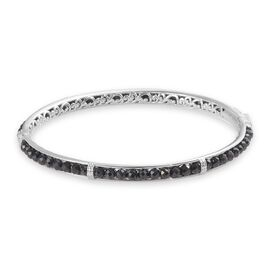 Boi Ploi Black Spinel Bangle (Size 8.5) in Platinum Plated 26.50 Ct.