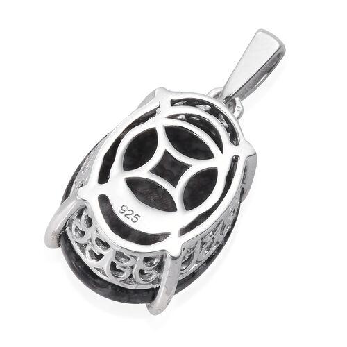 Austrian Pinolith (Ovl) Pendant in Platinum Overlay Sterling Silver 13.750 Ct.