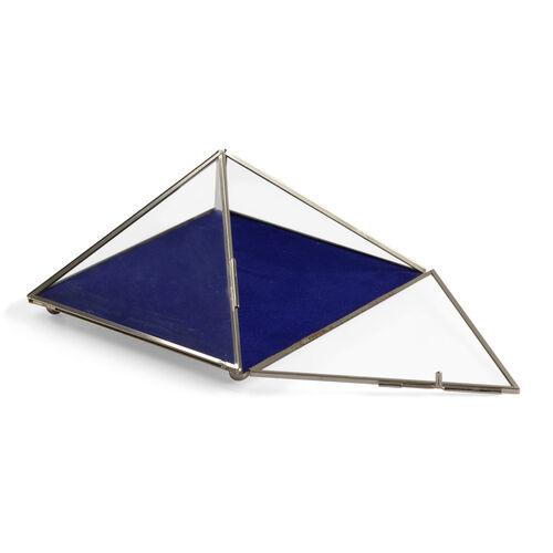 (Option 3) Vintage Glass Jewellery and Display Box (Size 20x14 Cm)