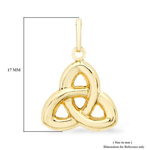 9K Yellow Gold Celtic Knot Pendant
