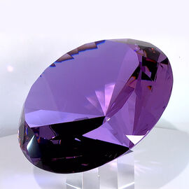 TJC Exclusive Diamond Cut Amethyst Crystal with Stand (20cms) in a Gift Box