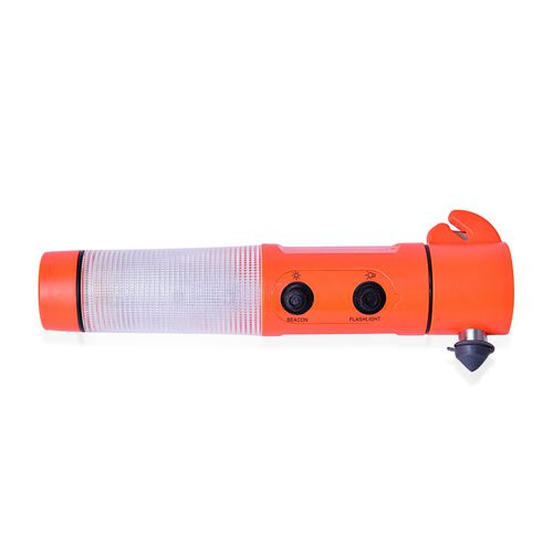 Orange and Black Colour Multi Functional Hammer with LED Flashlight (Size 19.30X6.98X3.98 Cm)