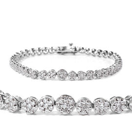 RHAPSODY 3 Ct Diamond Tennis Bracelet in 950 Platinum 21.10 Grams 7.25 Inch SGL Certified VS EF