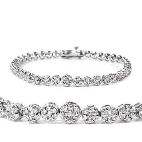 RHAPSODY 3 Ct Diamond Tennis Bracelet in 950 Platinum 21.10 Grams 7.25 Inch SGL Certified VS EF