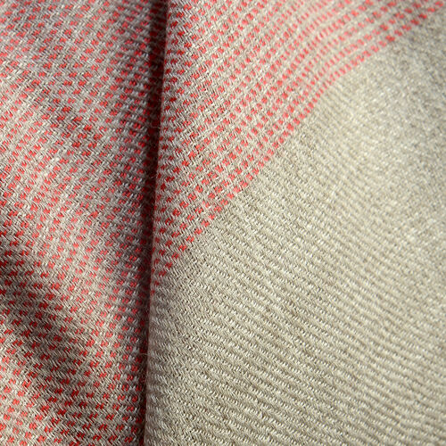100% Cashmere Wool Maroon Colour Shawl with Fringes (Size 200X70 Cm)