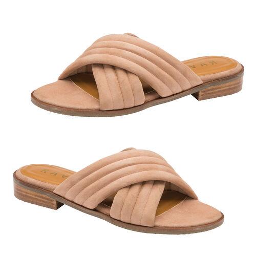 Ravel Sarina Suede Mule Sandals (Size 7) - Blush