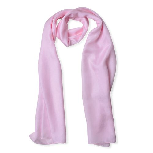 100% Mulberry Silk Ballet Slipper Colour Scarf (Size 175X90 Cm)