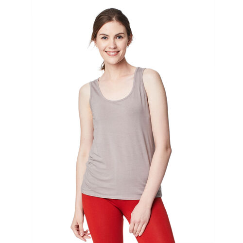 Thought Bamboo Base Layer Singlet (Size 12) - Warm Grey
