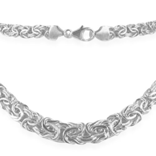 ILIANA 18K White Gold Byzantine Chain (Size 20), Gold wt 17.24 Gms.