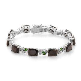14.50 Ct Elite Shungite and Zircon Tennis Design Bracelet in Platinum Plated Silver 7 Inch