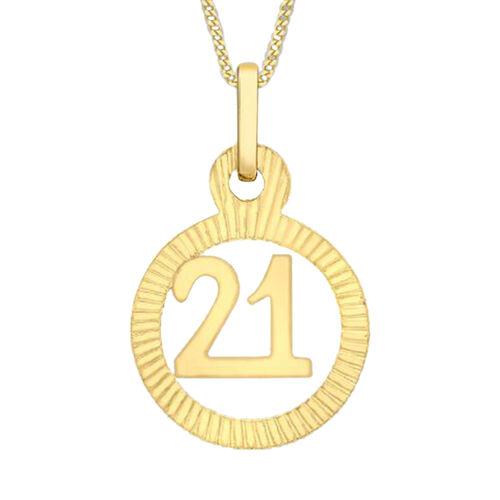 9K Yellow Gold 21 Circle Charm