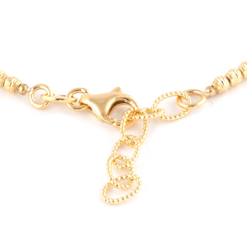 One Time Deal- 9K Yellow Gold Beads Bracelet (Size 7 with 1 Inch Extender).Gold Wt 3.71 Gms