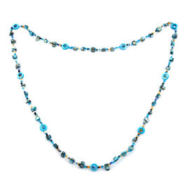 One Time Deal- Turquoise Colour Beads Necklace (Size 48)