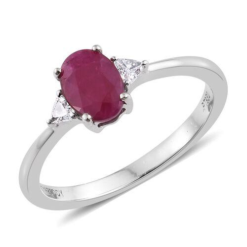 RHAPSODY 950 Platinum 1 Ct AAAA Burmese Ruby Ring with Diamond (VS/F)