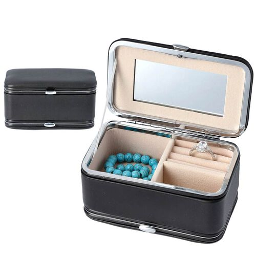 2 in 1 - Six Piece Manicure Set and Travel Jewellery Organiser with Inside Mirror (Size 11.7x7.5x6.5