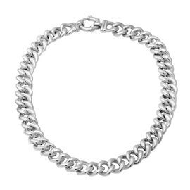 Sterling Silver Curb Link Necklace (Size 19.5), Silver wt 70.70 Gms