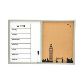 Daily Planner Dry-Erase and Cork Board (included- Magnetic Marker with Eraser Cap, 4 Magnet) (Size 6