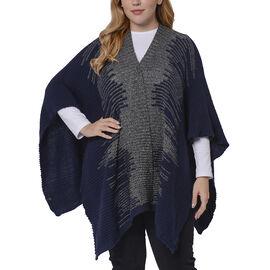 Italian Close Out- Navy Colour Kimono (Size 118x60 Cm)