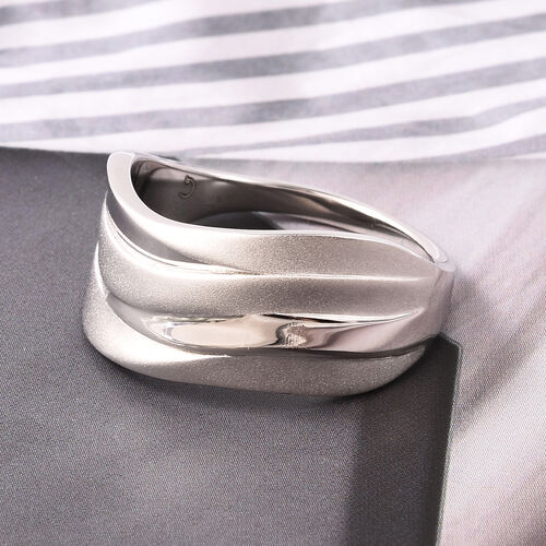 RACHEL GALLEY Rhodium Overlay Sterling Silver Ring