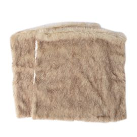 Set of 2 - One Side Faux Fur and One Side Sherpa Cushion Cover (Size 45.72x45.72 Cm)