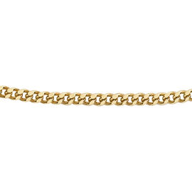 9K Yellow Gold Diamond Cut Curb Chain (Size 18)