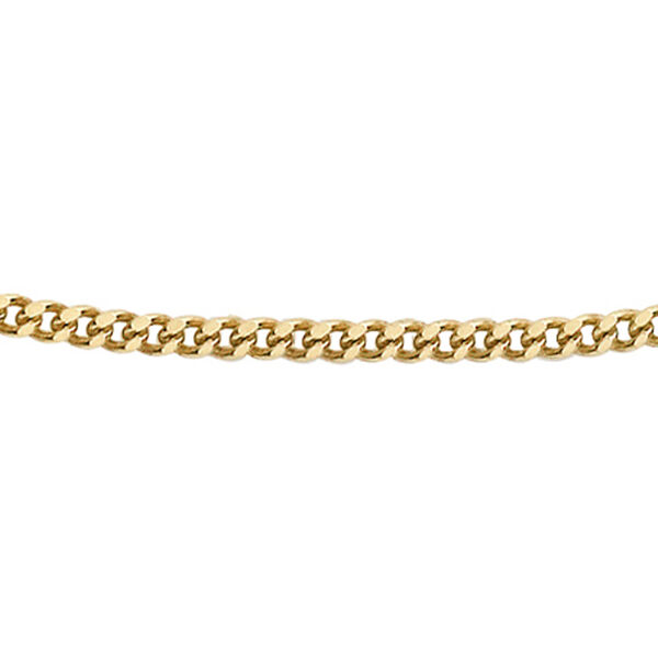 Hatton Garden Close Out Deal- 9K Yellow Gold Diamond Cut Curb Necklace (Size 18)