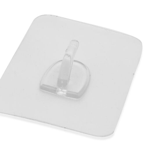 Pack of 10 Fully Transparent Magic Hooks (5 pieces-8x6 cms and 5 pieces-6x6 cms)