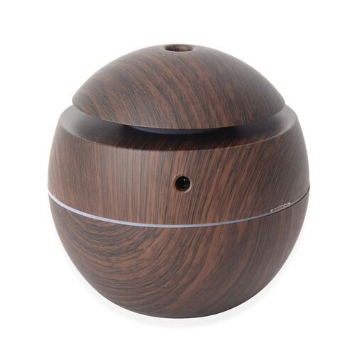 Aroma Diffuser with USB Cable (Size- D10xH9.5 Cm) - Chocolate Colour