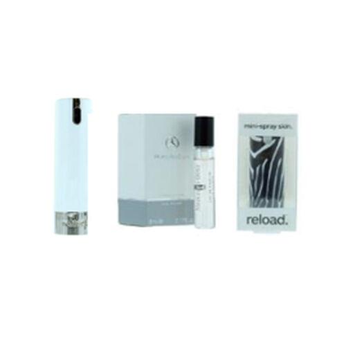 Reload Mini Perfume Spray White (Incl. Mercedes For Women - 5ml & Flowers Skin)