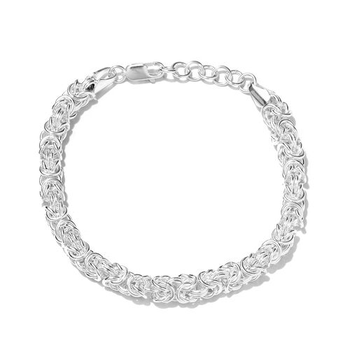 One Time Close Out Deal- Sterling Silver Bracelet (Size 7and 1 inch Extender), Silver wt 21.78 Gms.