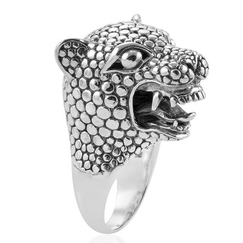 Royal Bali Collection Sterling Silver Panther Head Ring, Silver wt 34.20 Gms.