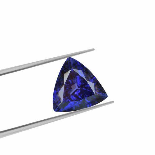 IGI Certified AAAA Tanzanite Trillion Cut 13.27x13.69x8.74mm 9.70 Cts