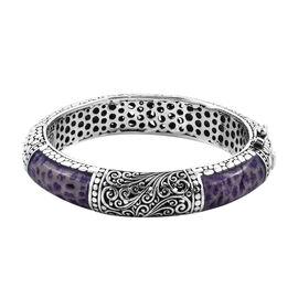 Royal Bali Purple Coral Filigree Design Bangle in Sterling Silver 57 Grams 7.5 Inch
