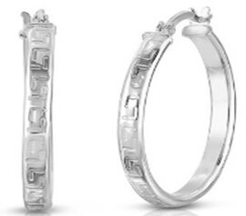 NY Close Out Deal- Sterling Silver Hoop Earrings (with Clasp)