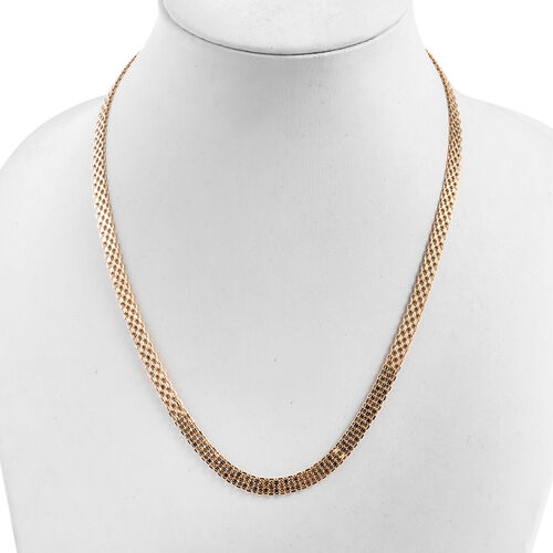 Royal Bali Collection 9K Yellow Gold Necklace (Size 18 and 2 inch Extender), Gold wt 6.74 Gms