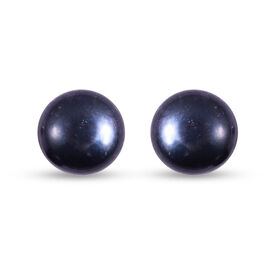 Fresh Water Peacock Pearl Stud Earrings (with Push Back) in Sterling Silver