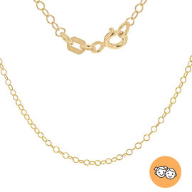 Italian Made Belcher Chain in Gold Plated Sterling Silver Size 16 Inch