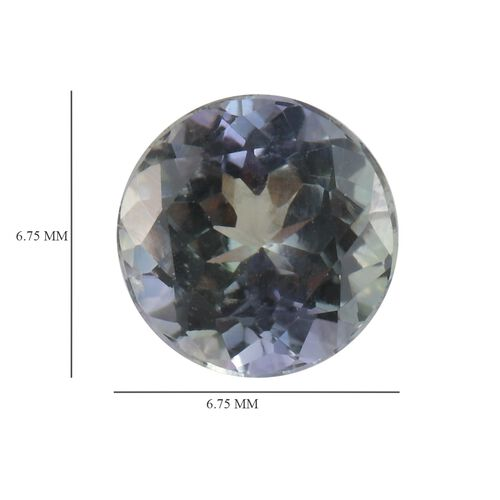AA Peacock Tanzanite Round 6.75 Faceted 1.28 Cts