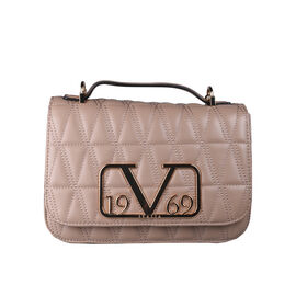 19V69 ITALIA by Alessandro Versace Quilted Pattern Crossbody Bag with Detachable Chain Strap (Size 22x14x8Cm) - Dark Beige