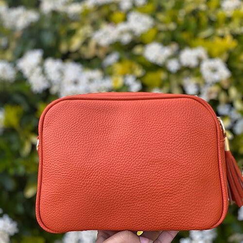 Kris Ana Tassel Zip Crossbody Bag - Orange