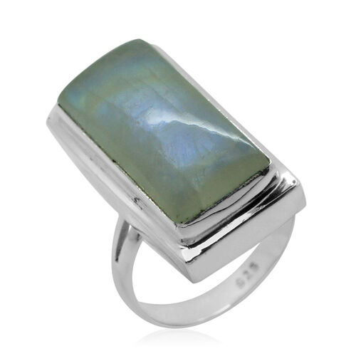 Royal Bali Collection Rainbow Moonstone (Oct) Ring in Sterling Silver 15.050 Ct.