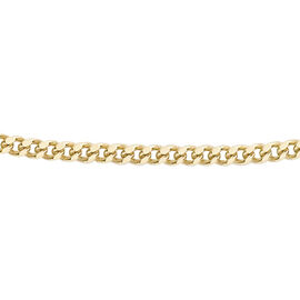 9K Yellow Gold Diamond Cut Curb Chain (Size 14)