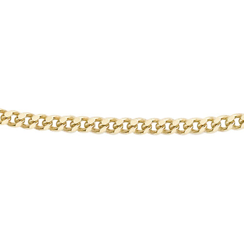 9K Yellow Gold Diamond Cut Curb Chain (Size 14)