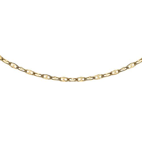 9K Yellow Gold  Flat Rambo Chain (Size 24) ,  Gold Wt. 0.99 Gms