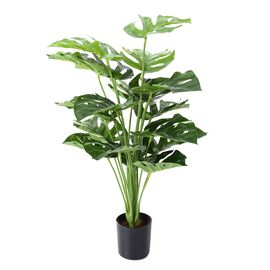 Home Decor - 65cm Artificial Monstera Plant with Pot
