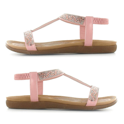 OLLY Mags Cushioned Toe Post Sandal (Size 5) - Pink