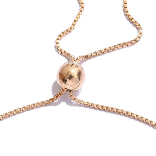 Diamond (Rnd) Bracelet (Size 6.5 to 8.5) in 14K Gold Overlay Sterling Silver 0.450 Ct.