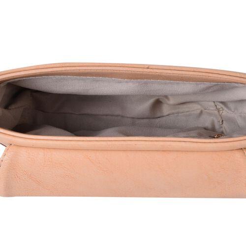 Dusky Pink Colour Fancy Bow Crossbody Bag With Adjustable Shoulder Strap (Size 20x15x7 Cm)